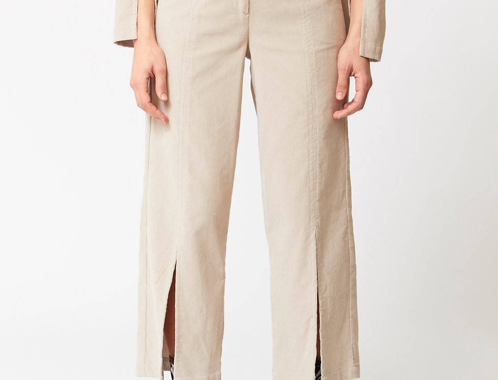 Corduroy cuts trousers