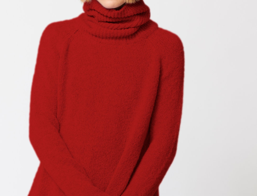 Red Turtle neck long jersey