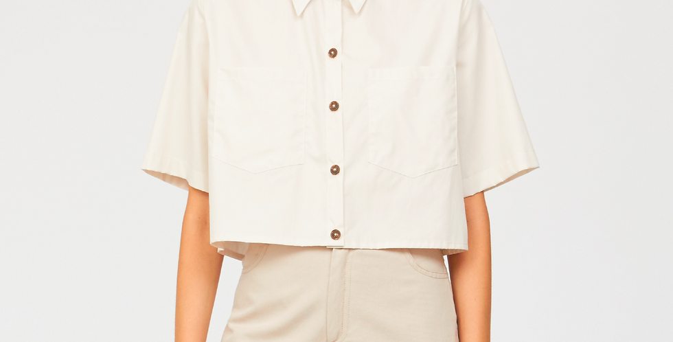 Organic cotton cropped shirt
