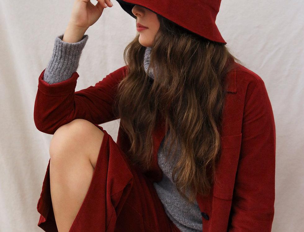 Black & Red Reversible Bucket-Hat