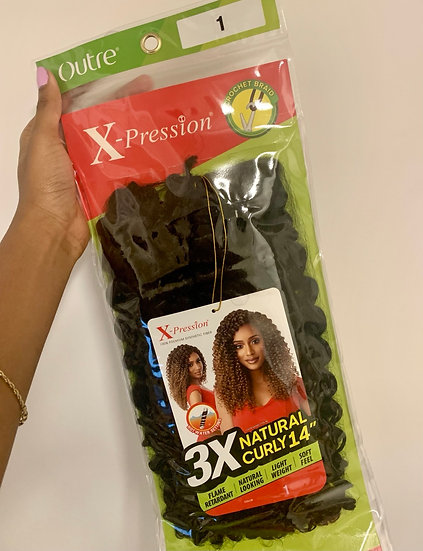 """#1 Crochet Hair - X-Pression, Natural Curly, 14"""""""