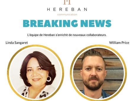 Nouveautés dans l'équipe de Hereban