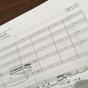 新作《11人のクラリネット奏者による「タランテラ」》