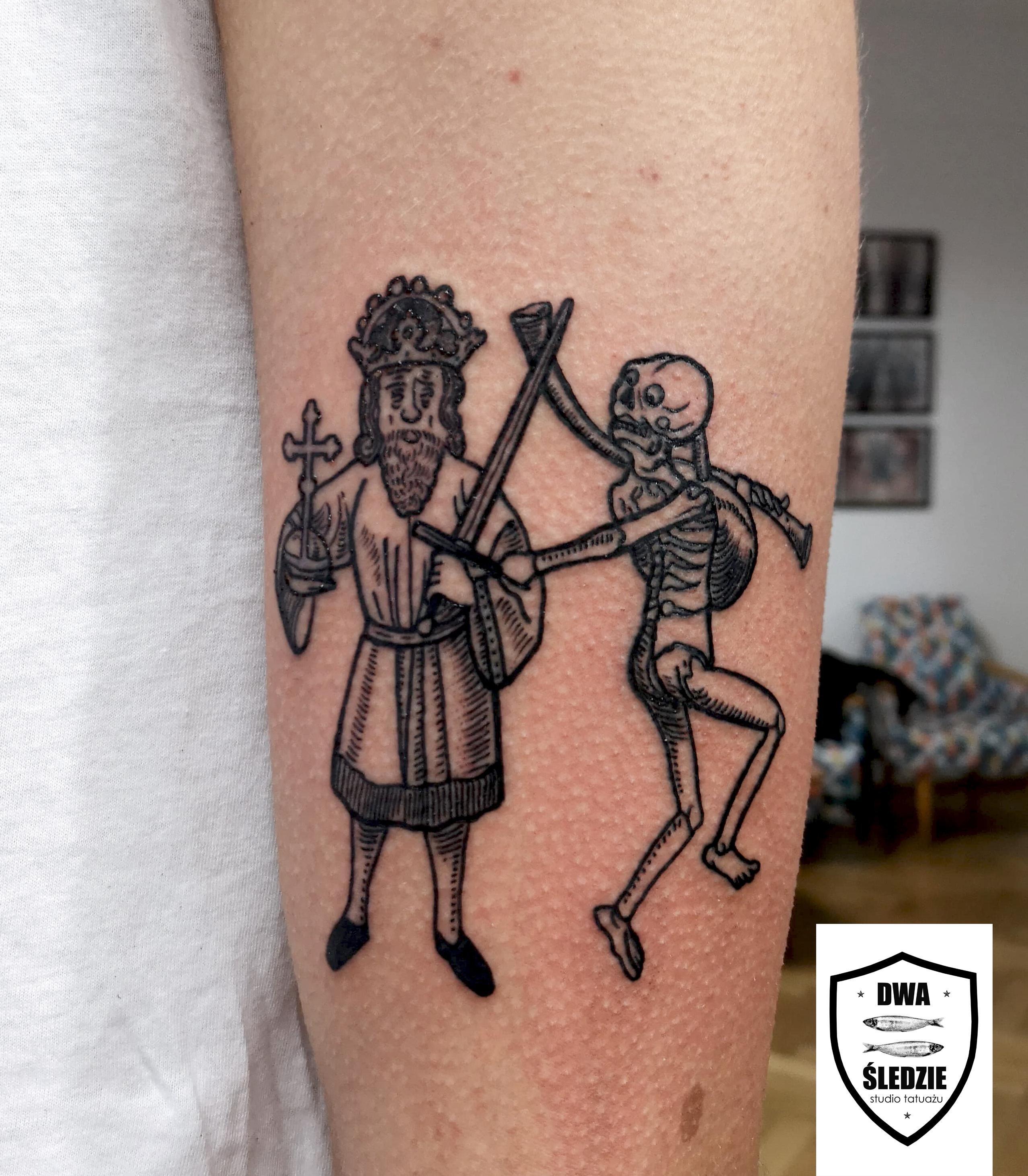 tatuaż dance macabre