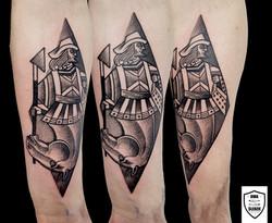 tatuaż graficzny karciany