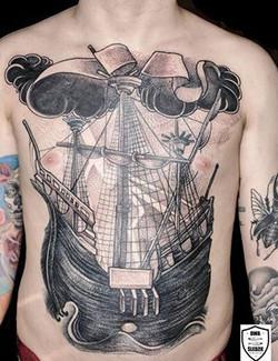 tatuaż morski, front