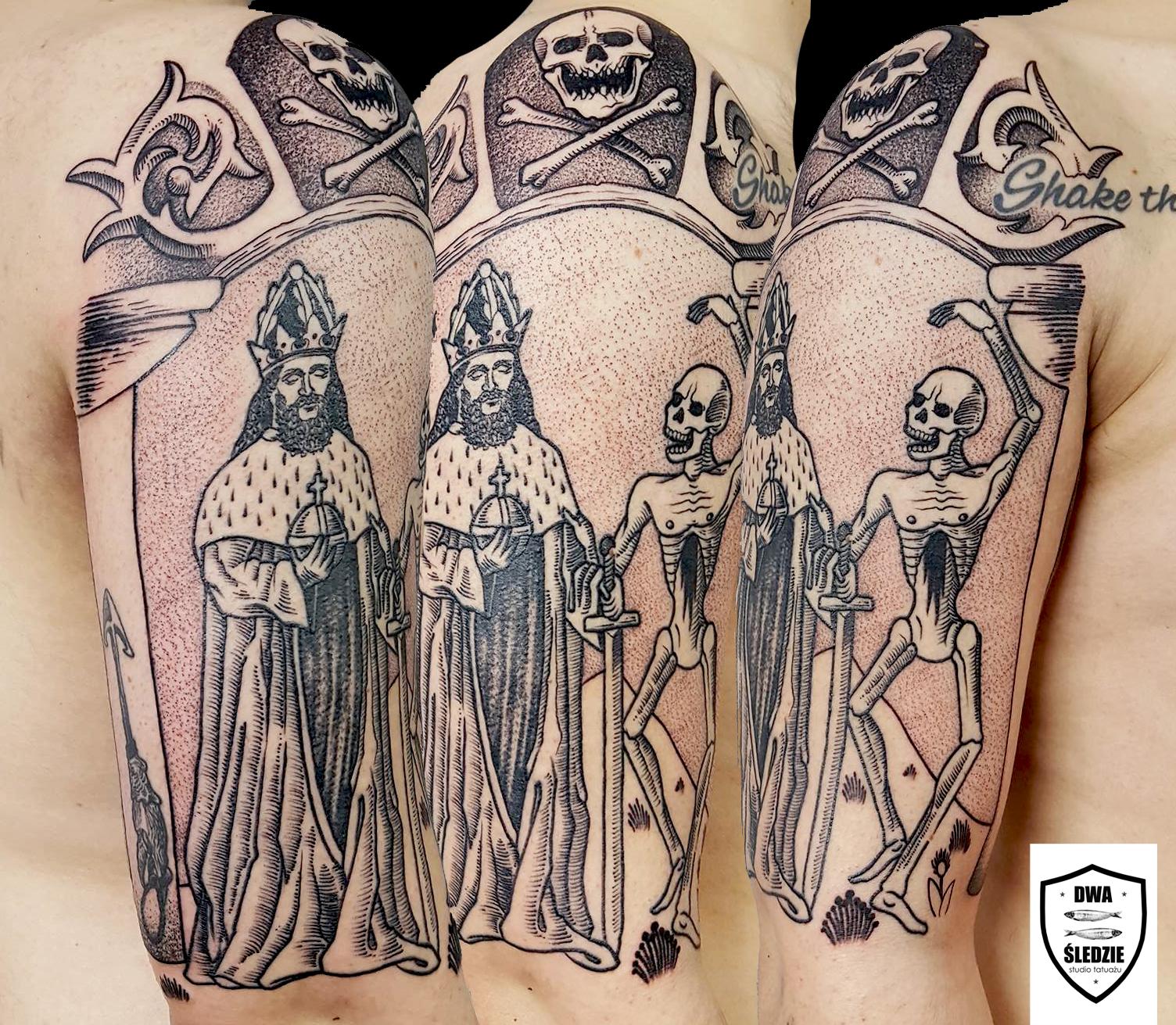 tatuaż danse macabre