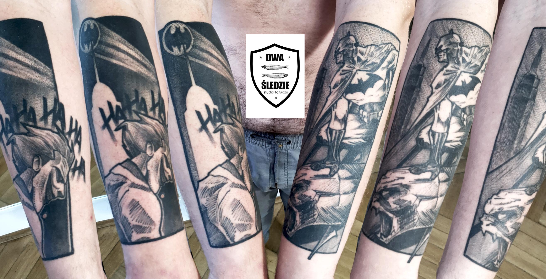 tatuaż Batman i Jocker