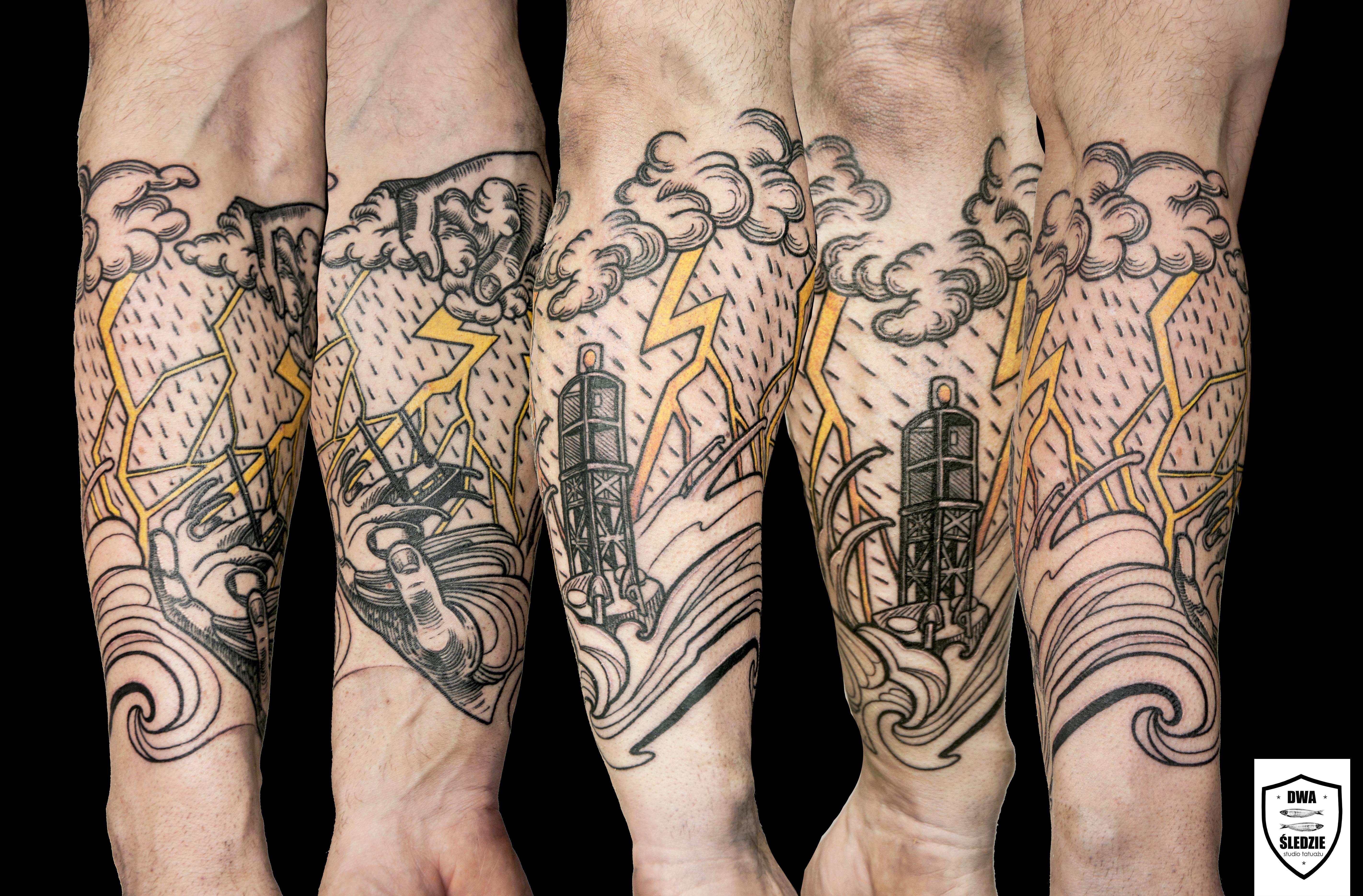 tatuaż sztorm