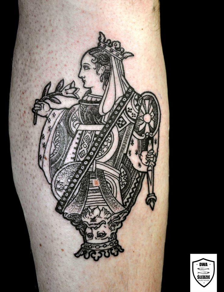 tatuaż dama i król