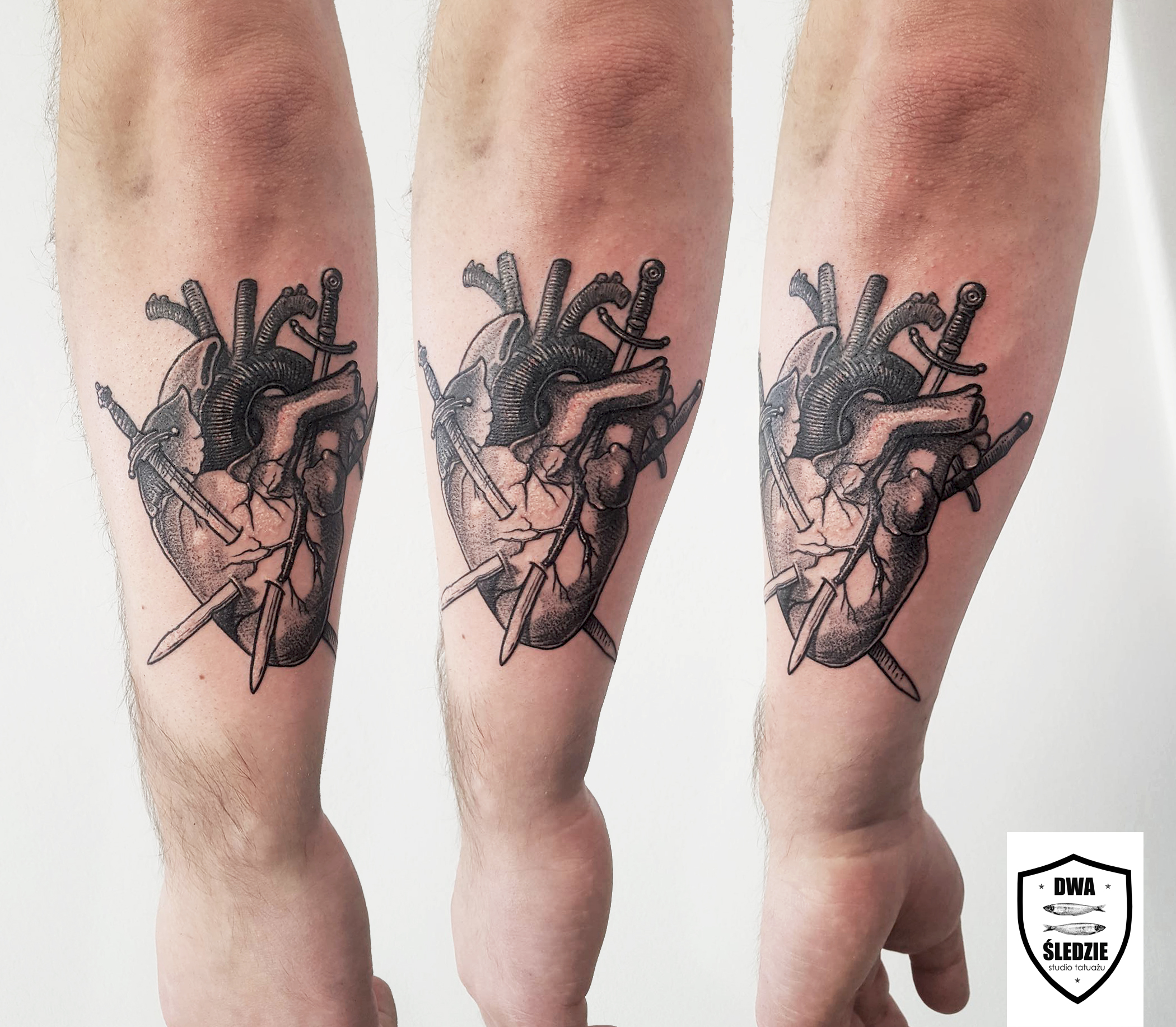 tatuaż graficzny serce