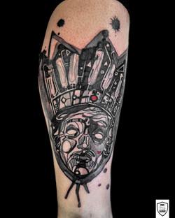 tatuaż król