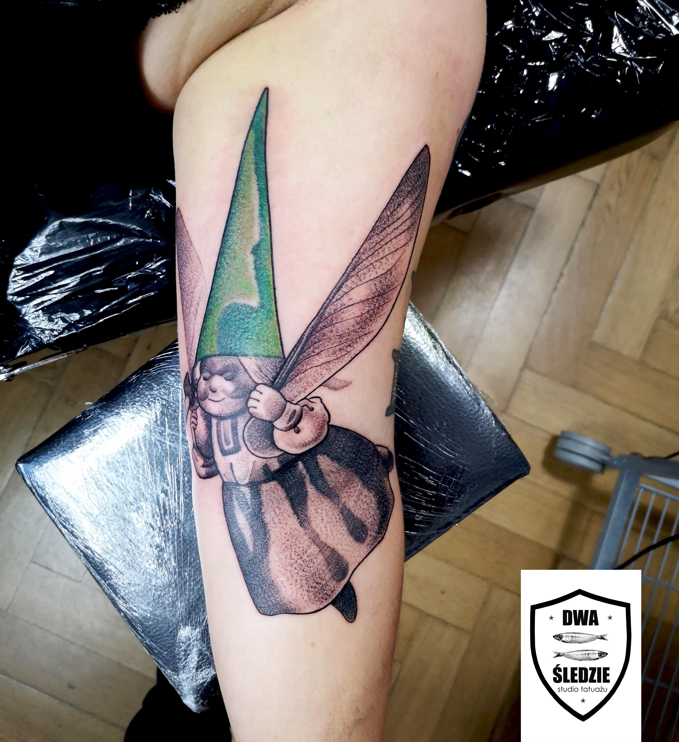 tatuaż graficzny Skrzatka