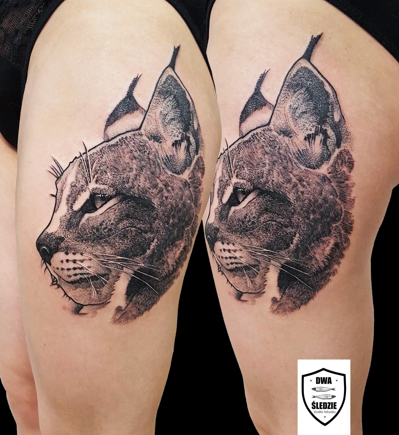 tatuaż ryś