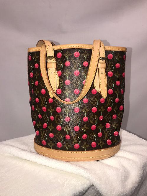 Louis Vuitton Bucket Monogram Cerise Cherry S Limited Edition