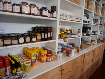 Local produce available for purchase