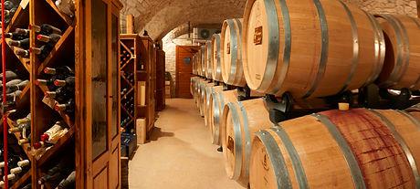 Italian wine in a cantina