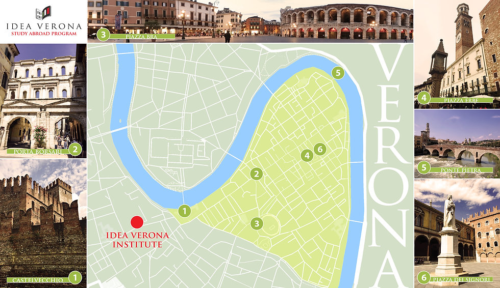 city map verona italy