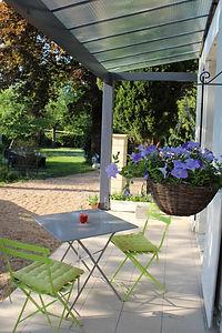 Terrasse gite Le Parc