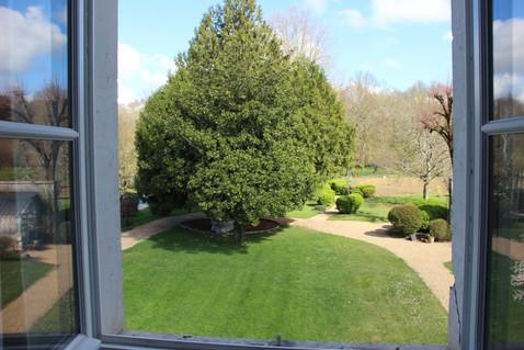Vue fenêtre parc