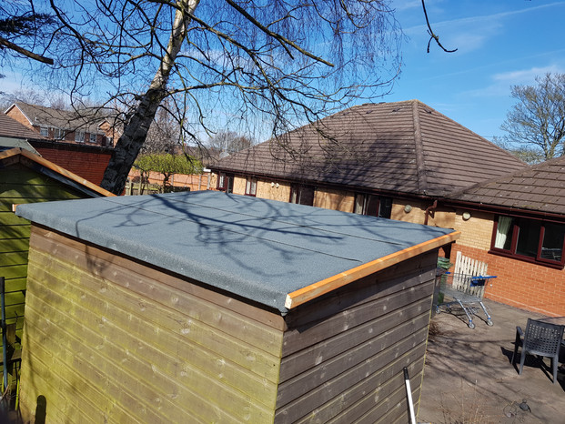 Fitting Shed Roof With New Felt