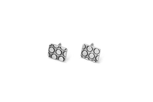 Polka Dot Rectangle Studs