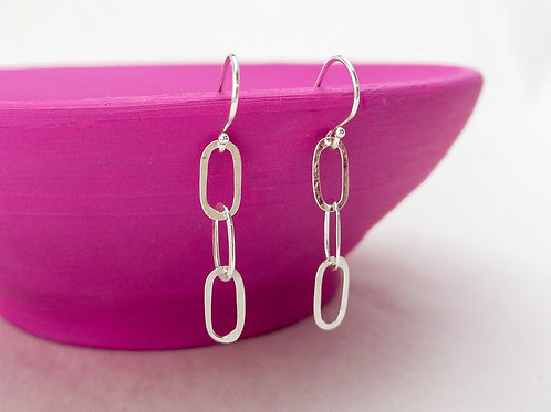 Small Oval Sterling Dangles