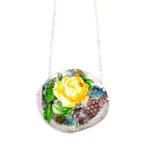 Industrial Romantic Rose Necklace