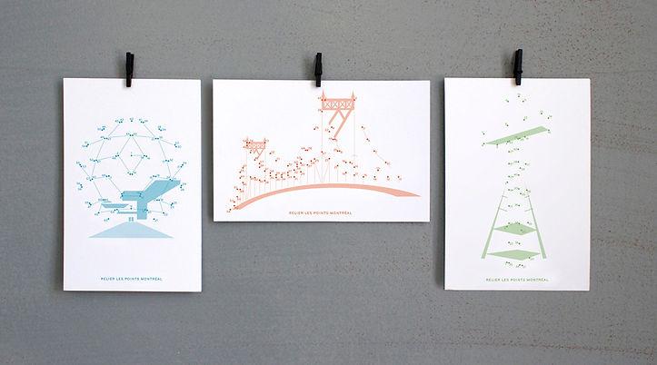 Relier les points Montréal postcards