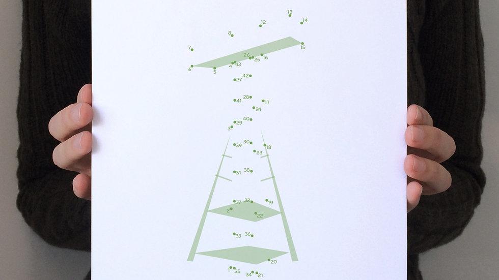 Affichette / Mini Poster—Croix Mont Royal