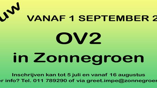 NIEUW!  OV2 in Zonnegroen!!