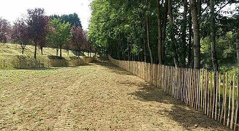 clôtures en échalas ou ganivelles