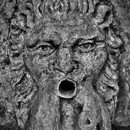 Le mascaron - Detail of the mascaron