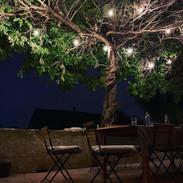 La terrasse de nuit- The terrace by night