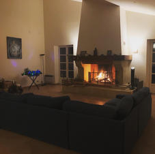 La cheminée allumée- Lighted chimeney