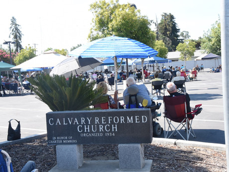 Local Churches Worship Outside During Pandemic