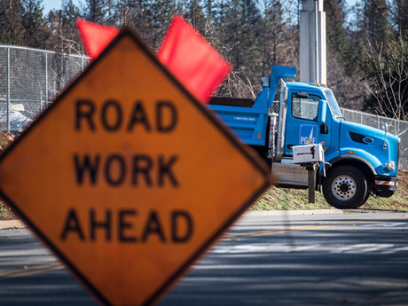 PG&E Gas Line Construction Causes Multiple Lane Closures and Heavy Traffic