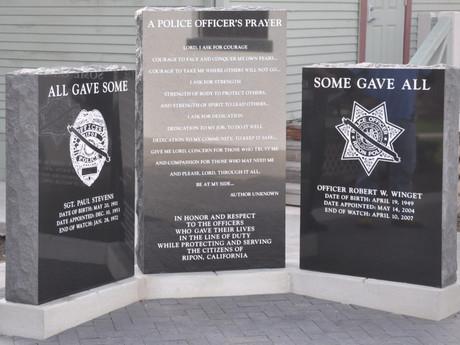 Officer Robert Winget Memorial – 4/10/2017 (Video)