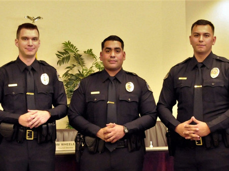 Three New Officers Sworn In