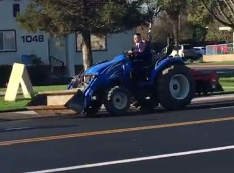 It's drive your tractor to school day in Ripon!