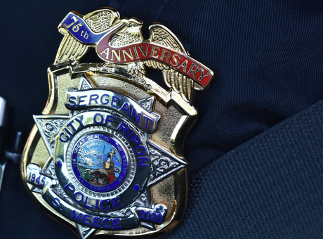 Ripon PD Celebrates 75th Anniversary with Badge