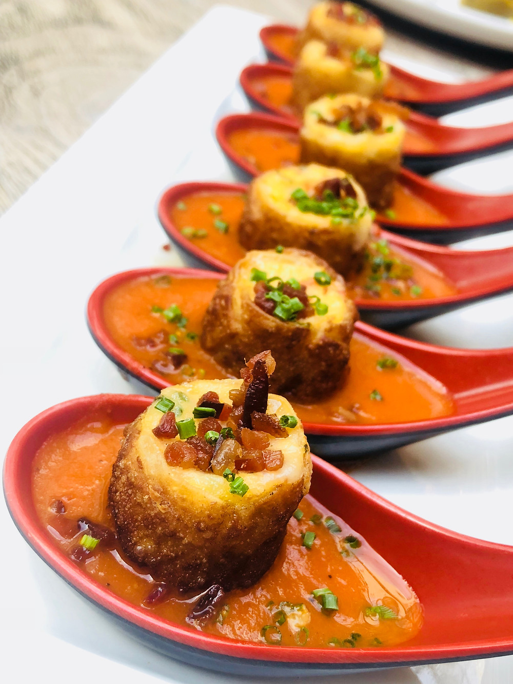 Beauty & Essex Tomato Soup Dumplings