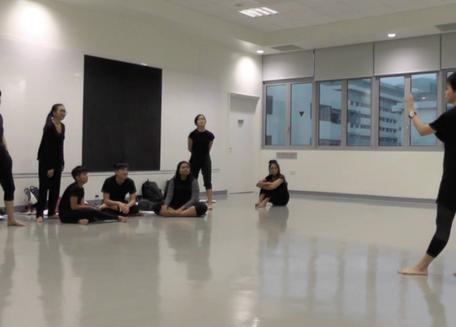 Director Thong Pei Qin at NAFA rehearsal
