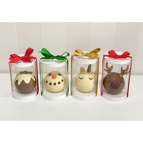 Hot chocolate Bomb - Reindeer, Unicorn, Snowman or Pudding