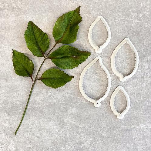 Rose leaf set of 4 - Plastic