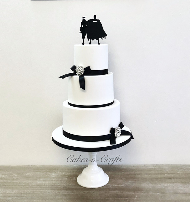 Double sided batman wedding cake