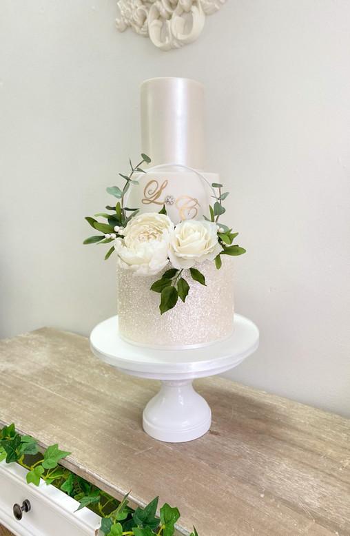 Floral hoop glitter - £475