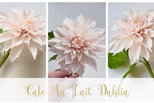 Cafe au Lait Sugar Dahlia Online Class