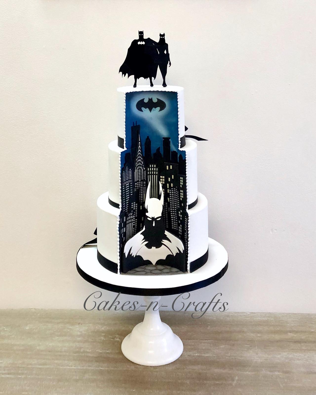 Batman Wedding Cake.Batman Wedding Cake