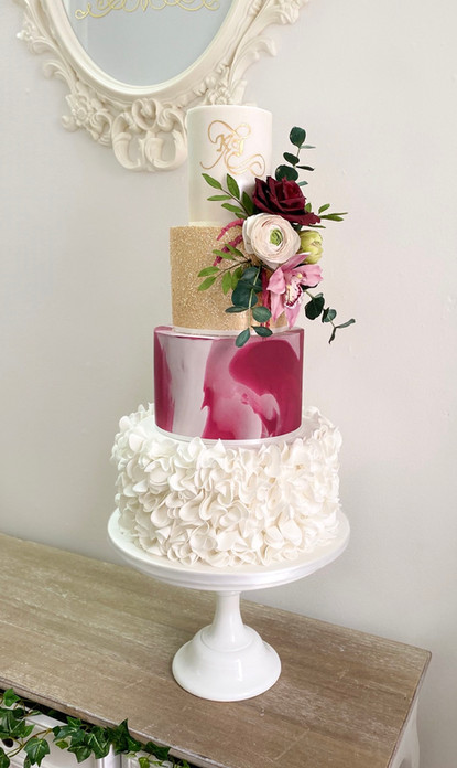 Burgundy floral - £595